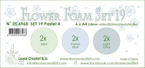 LeCrea - Flower Foam set 19 6 vl 3x2 Pastel 4. 25.6968 A4 (09-20)