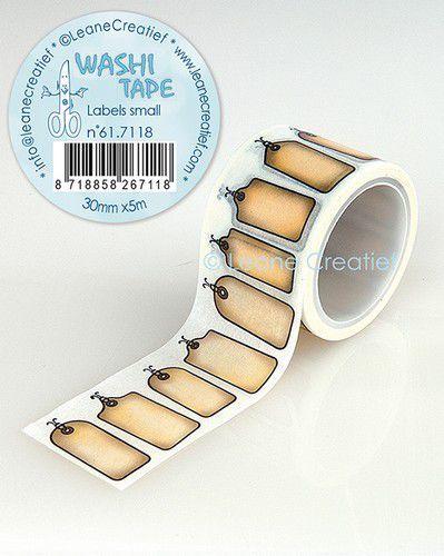 LeCrea - Washi tape Labels klein 30mmx5m. 61.7118 (09-20)