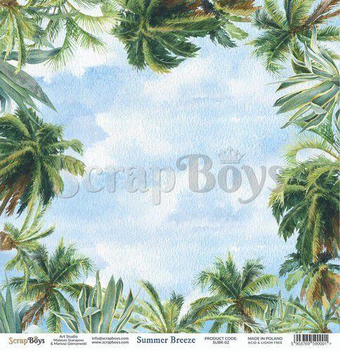 ScrapBoys Summer Breeze paper sheet DZ SUBR-02 190gr 30,5 x 30,5cm (07-20)