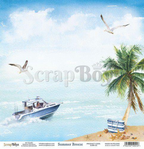 ScrapBoys Summer Breeze paper sheet DZ SUBR-03 190gr 30,5 x 30,5cm (07-20)