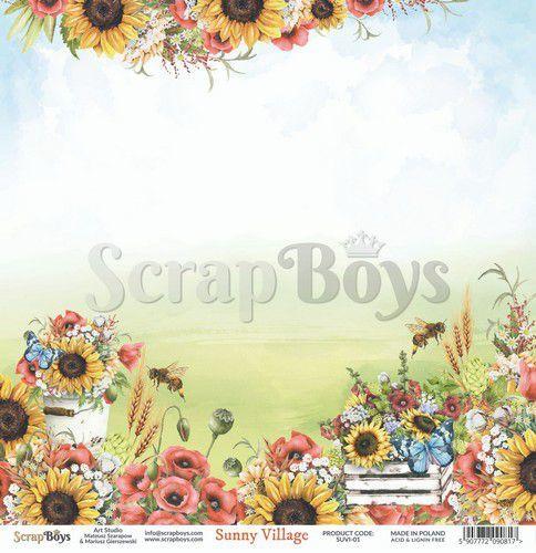 ScrapBoys Sunny Village paper sheet DZ SUVI-01 190gr 30,5 x 30,5cm (07-20)
