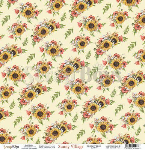 ScrapBoys Sunny Village paper sheet DZ SUVI-04 190gr 30,5 x 30,5cm (07-20)