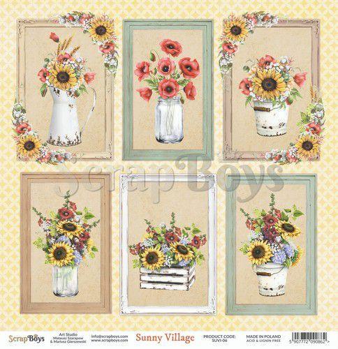 ScrapBoys Sunny Village paper sheet DZ SUVI-06 190gr 30,5 x 30,5cm (07-20)