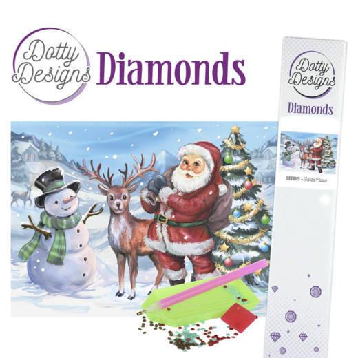 Dotty Designs Diamonds - Santaclaus