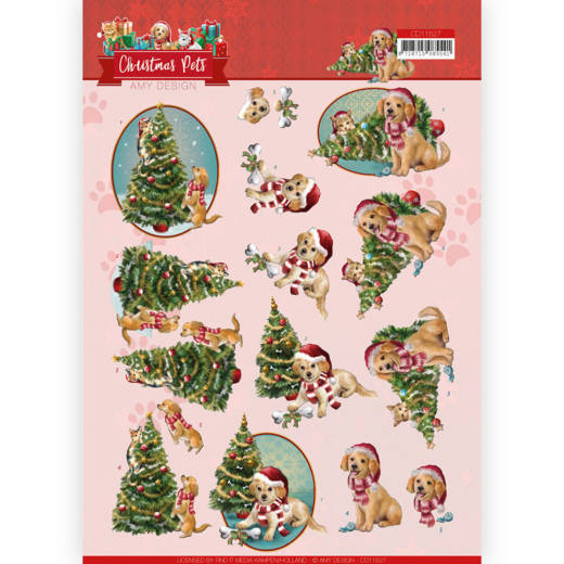3D Cutting Sheet - Amy Design - Christmas Pets - Christmas Tree
