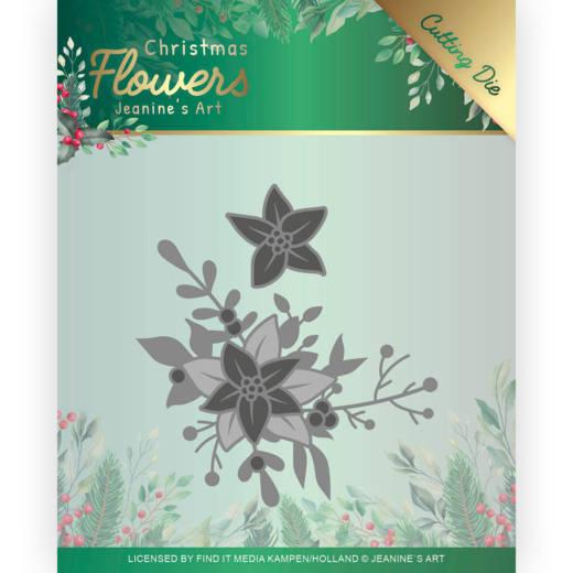 Dies - Jeanines Art  Christmas Flowers - Poinsettia Corner
