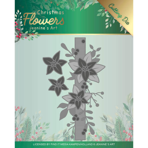 Dies - Jeanines Art  Christmas Flowers - Poinsettia Border