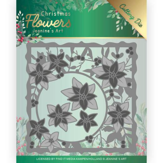 Dies - Jeanines Art  Christmas Flowers - Poinsettia Frame