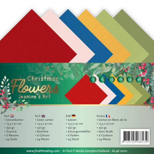 Linen Cardstock Pack - 4K - Jeanines Art  Christmas Flowers