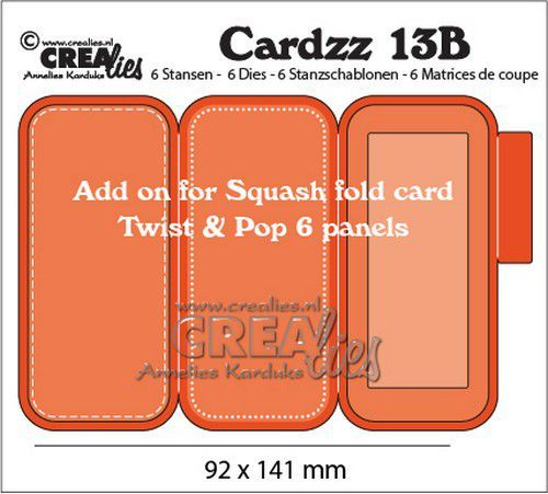 Crealies Cardzz nr 13B add on for CLCZ13: Twist & Pop 6 panels CLCZ13B 92x141mm (08-20)