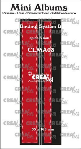 Crealies stans Mini Albums  Bindsysteem B CLMA03 55x165 mm (08-20)