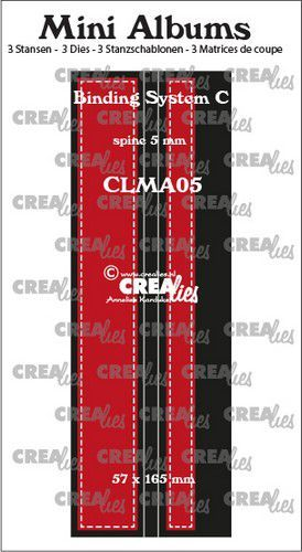 Crealies stans Mini Albums  Bindsysteem C CLMA05 57x165 mm (08-20)