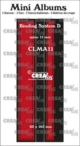 Crealies stans Mini Albums  Bindsysteem D CLMA11 63x165 mm (08-20)