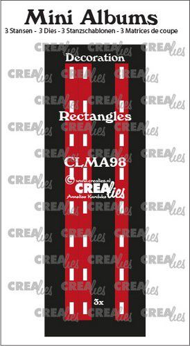 Crealies stans Mini Albums  Decoratie rechthoekjes CLMA98 3x145 mm (08-20)