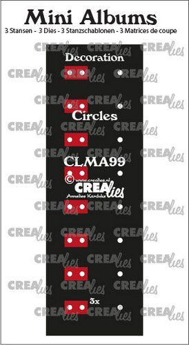 Crealies stans Mini Albums  Decoratie cirkels CLMA99 2x145 mm + 1x122 mm (08-20)