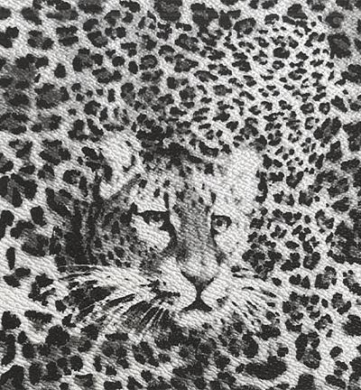 Vegan leer, leopard grey