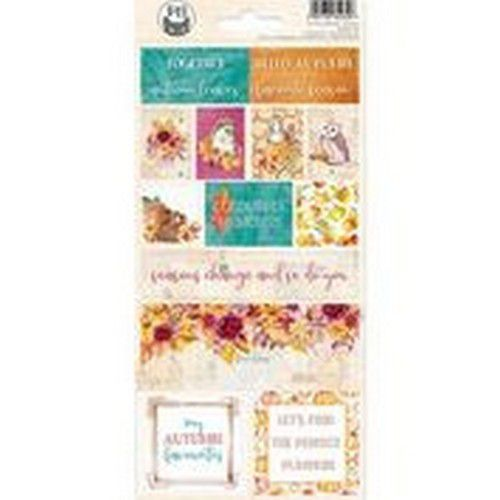 Piatek13 - Sticker sheet The Four Seasons - Autumn 02 P13-AUT-12 10,5x23cm (08-20)