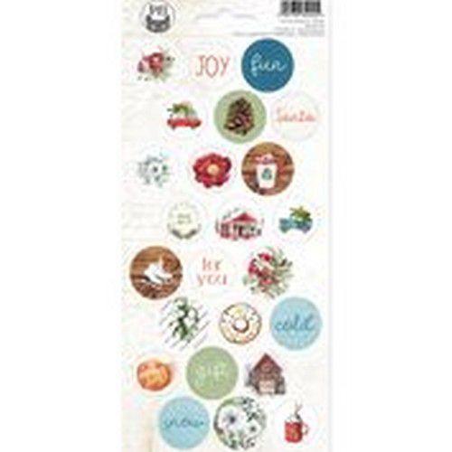 Piatek13 - Sticker sheet The Four Seasons - Winter 02 P13-WIN-12 10,5x23cm (08-20)