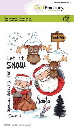 CraftEmotions clearstamps A6 - Santa 1 Carla Creaties (08-20)