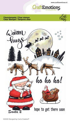CraftEmotions clearstamps A6 - Santa 2 Carla Creaties (08-20)