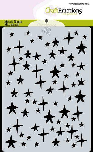 CraftEmotions Mask stencil sterren hemel A6 Carla Creaties (08-20)