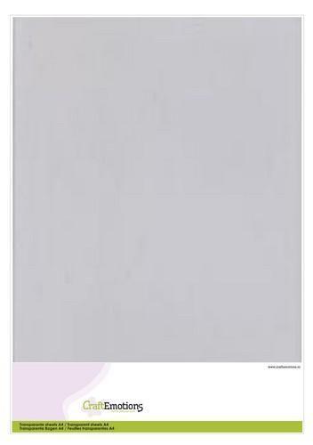CraftEmotions Transparante sheets A4  1PK/5VL 3.1000