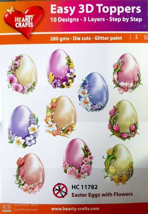 Easy 3D-Toppers easter eggs with flower