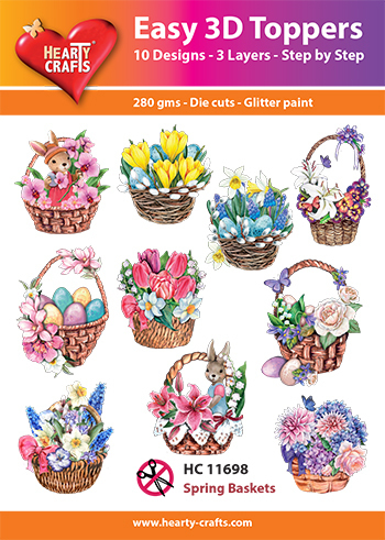 Easy 3D-Toppers Spring Baskets