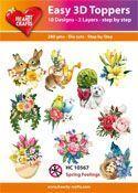 Easy 3D-Toppers Spring Feelings