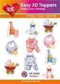 Easy 3D-Toppers Baby Born-Boy-Girl