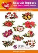 Easy 3D-Toppers Christmas Floristy (1)