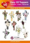 Easy 3D-Toppers - Condolence Crosses