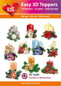 Easy 3D-Toppers Candles in Wintertime