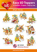 Easy 3D-Toppers Christmas Mooses