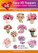 Easy 3D-Toppers Flowers in vase