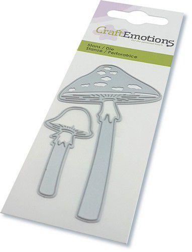 CraftEmotions Die - paddestoelen lange steel Card 5x10cm (08-20)