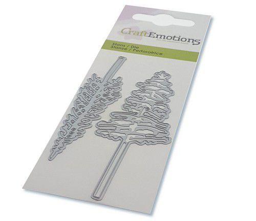 CraftEmotions Die - kerstbomen met hoge stam Card 5x10cm (08-20)