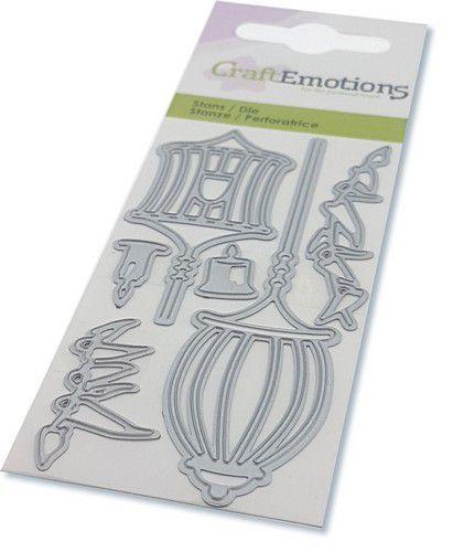CraftEmotions Die - elfen - lantaarns Card 5x10cm (08-20)