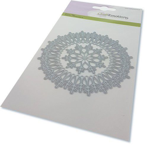 CraftEmotions Die - border rond magic ice crystal Card 10,5x14,8cm (08-20)