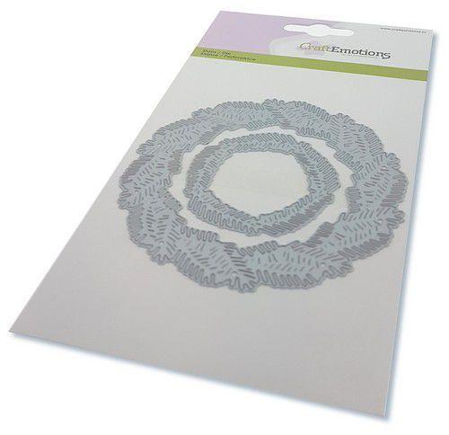 CraftEmotions Die - krans van dennentakken Card 10,5x14,8cm (08-20)