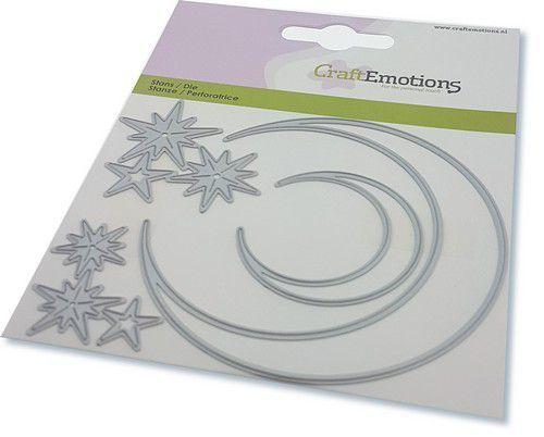 CraftEmotions Die - elfen - maan en sterren Card 11x9cm - 82 mm (08-20)