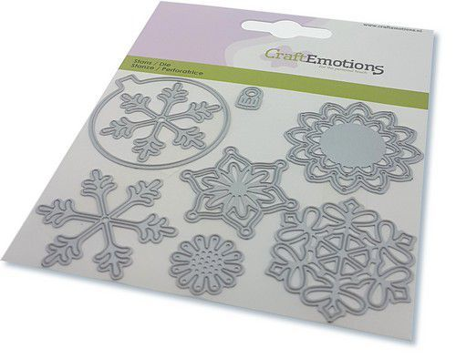 CraftEmotions Die - kerstbal rond multi ornament Card 11x9cm - 82 mm (08-20)