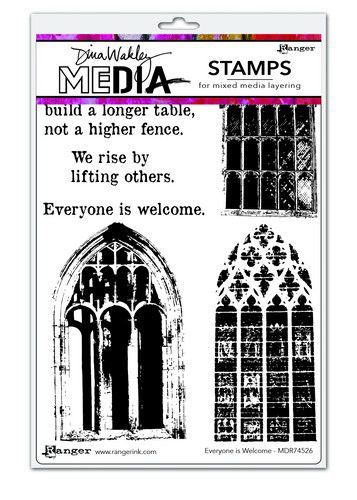 Dina Wakley Media Stamps Everyone Is Welcome MDR74526 Dina Wakley 6x9 (09-20)
