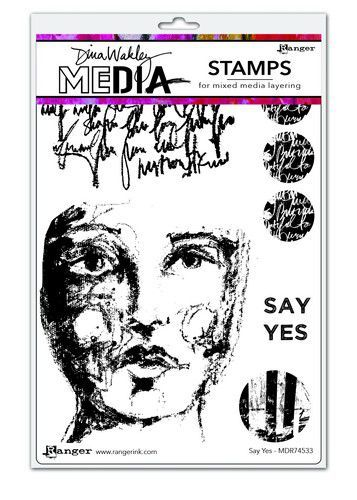 Dina Wakley Media Stamps Say Yes                  MDR74533Dina Wakley 6x9 (09-20)