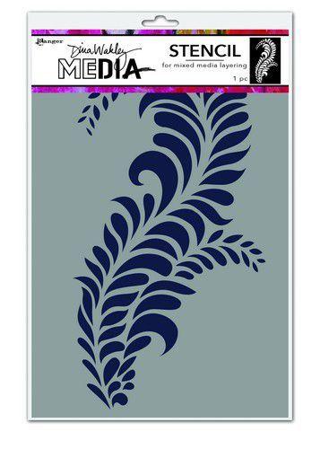 Dina Wakley Media Stencils Giant Flourish   MDS74564Dina Wakley 6x9 (09-20)