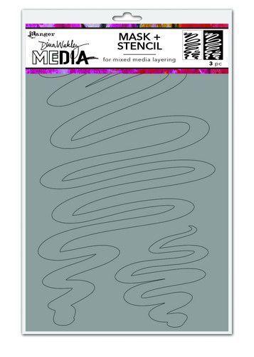 Dina Wakley Media Stencils Meandering Masks MDS74588 Dina Wakley 6x9 (09-20)
