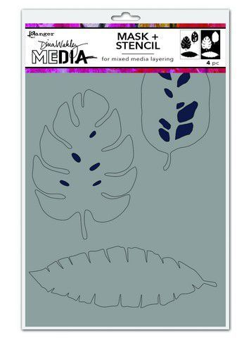 Dina Wakley Media Stencils Tropical Masks     MDS74595 Dina Wakley 6x9 (09-20)