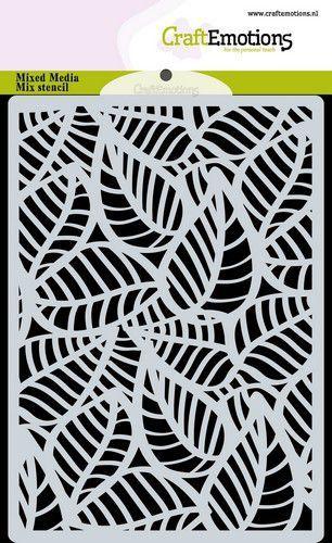 CraftEmotions Mask stencil achtergrond Skelet bladeren A6 A6 (09-20)