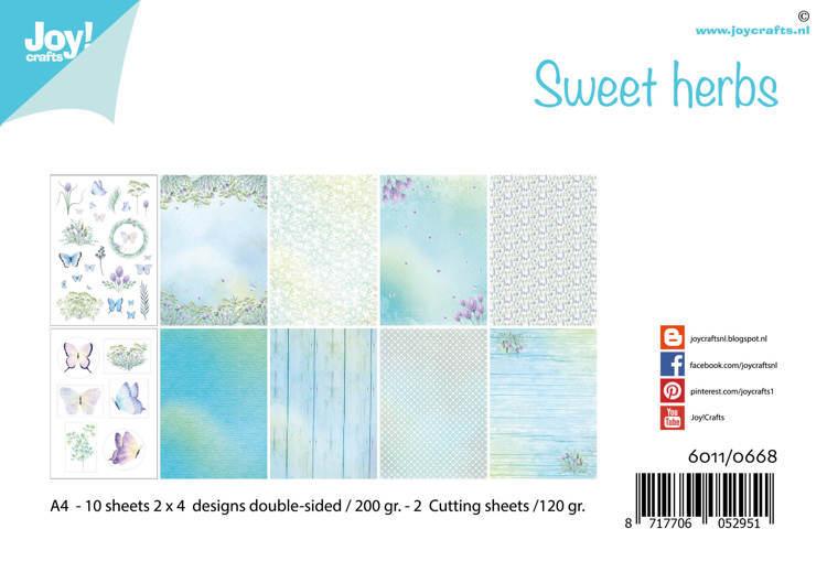 Papierset - Sweet herbs