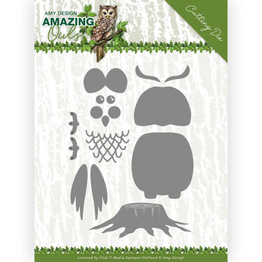 Dies - Amy Design - Amazing Owls - Build up Owl